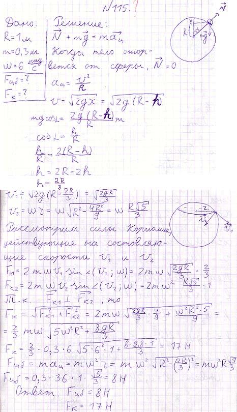 С вершины гладкой сферы радиуса R = 1,00 м начинает соскальзывать небольшое тело массы m = 0,30 кг