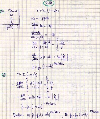 Идеальный газ с молярной массой М находится в однородном поле тяжести