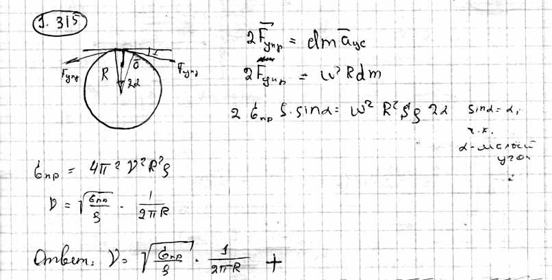 Кольцо радиуса r = 25 см, сделанное из свинцовой проволоки, вращают вокруг