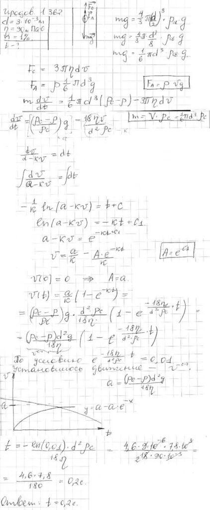 Стальной шарик диаметра d = 3,0 мм опускается с нулевой начальной скоростью